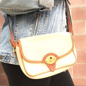 Vintage Cross-Body Pebbled Leather Purse Bag